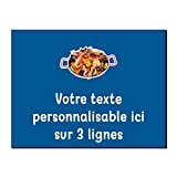 Mygoodprice Placa decorativa de aluminio de Paella personalizable de 20 x 15 cm o 30 x 20 cm. Varios colores disponibles azul oscuro