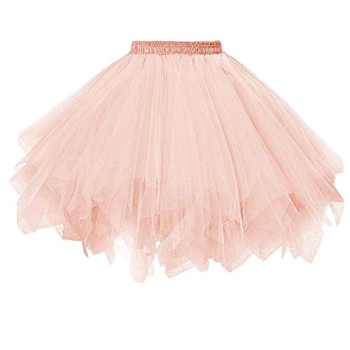 Aiserkly 50er Jahre Retro Tutu Tüllrock Damen Vintage Petticoat Reifröcke Unterrock für Rockabilly Kleid Festliches Kleid Brautkleid Ballkleid Mini Kleid Empire I