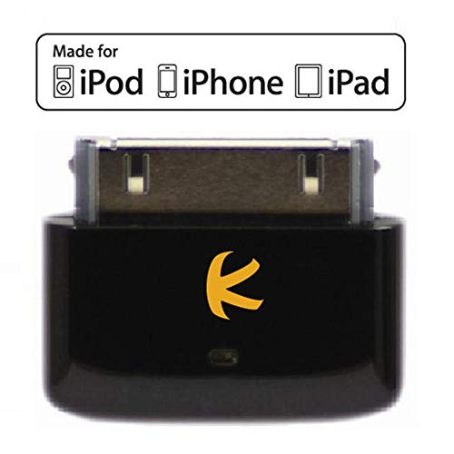 KOKKIA i10s_black (Luxuriöse Schwarz) Mini-Bluetooth-iPod-Transmitter für iPod / iPhone / iPad mit echter Apple-Authentifizierung. Ermöglicht die Fernsteuerung und lokale Lautstärkeregelung für iPod / iPhone / iPad. Unterstützt Plug-and-Play und funktioniert mit dem neuesten iPod Nano (6. Generation), iPod Touch (4. Generation), iPhone 4S und iPad 3.
