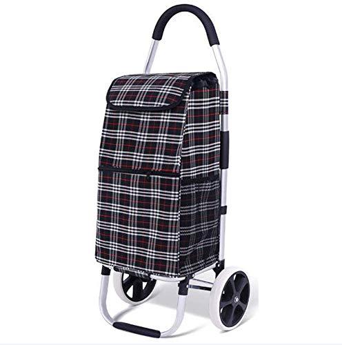 WYZXR Einkaufswagen,Faltbarer Einkaufswagen mit 45-l-Tasche,große Kapazität,multifunktionaler Gepäckwagen mit Rädern,Abnehmbarer Rucksack a/G.
