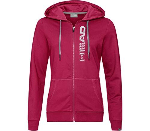 HEAD Damen, Club Greta Full-Zip Trainingsjacke, Weiß Jacken, pink, XL
