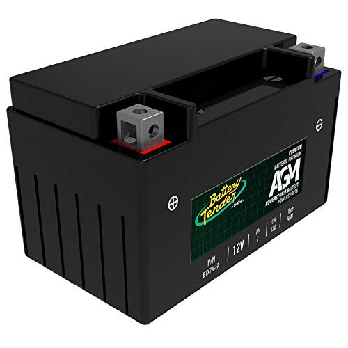 Battery Tender AGM Motorcycle Battery: Absorbent Glass Mat Battery for Motorcycles, ATVs, UTVs and More - High Performance 12V 7aH 120 CCA Powersports Engine Start Battery - BTX7A-FA