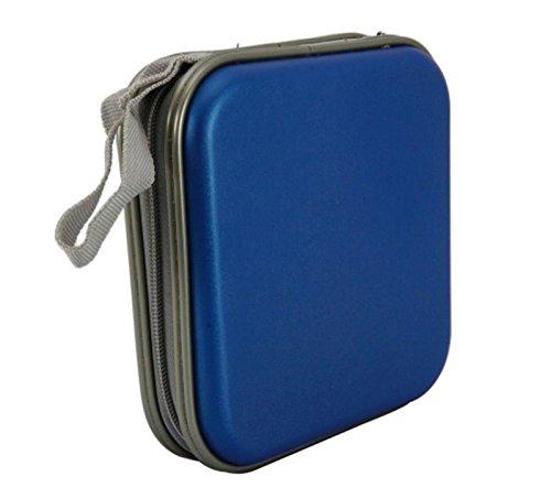 Portable Plastic 40 Disc CD DVD Wallet Storage Organizer Bag Case Blue