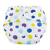 Maillots de bain d'été couverture de couche-culotte lavable réutilisable en tissu lavable pour bébé nouveau-né été unisexe (B)