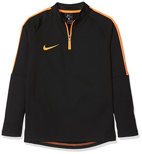 Nike Kinder Dry Academy Drill Top, Black/Cone, XL