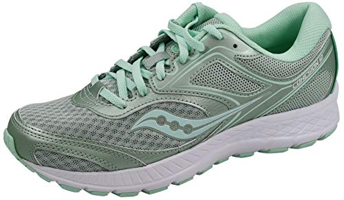 Saucony Women's Versafoam Cohesion 12 Road Running Shoe, Mint/White, 8 M US