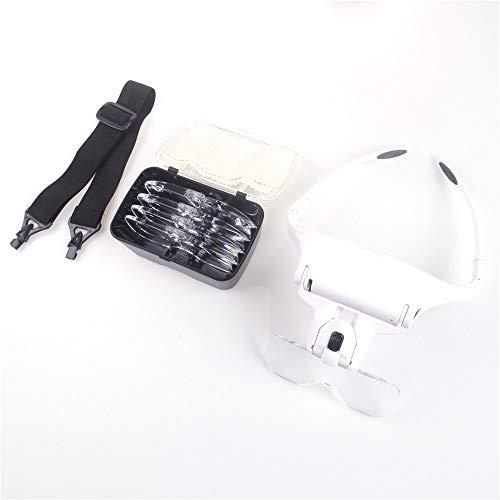 ANGEEK Magnifying Glasses LED Light Lamp Head Loupe Jeweler Headband Magnifier Eye Glasses Optical Glass Tool Repair Reading Magnifier