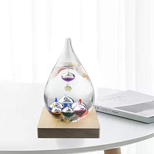 Ritapreaty Galileo Thermometer, 10 Multi-Colored Spheres Tear Drop Shaped Meet Temperaturen van 16°F tot 34°F