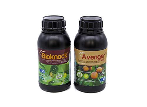 BIOKNOCK®+Avenger®. Pack Insectos/Pulgón/Mosquito V./Hongos; Bio-Protector-Fertilizante Especial reparadores. Multi-acción Plantas Exterior/Cultivos. Ecológico (2.000 m2)