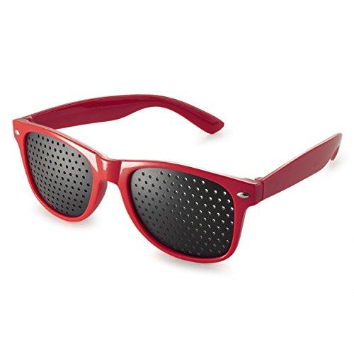 Ganzoo - Gafas reticulares para el entrenamiento ocular de relajación de la vista, con patillas de colores y forma en B