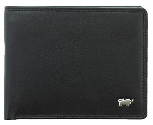 BRAUN BÜFFEL Geldbörse Golf 2.0 aus echtem Leder - 8CS - schwarz