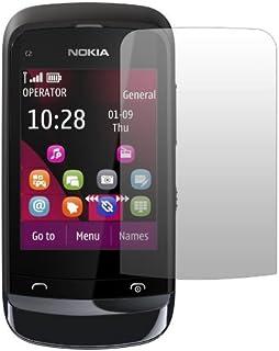 """Slabo skärmskydd 2 x Nokia C 2-02/Nokia C 2-02 Beröring och typ Skärmskyddsfilm Ultra Clear (osynlig) """"MADE IN GERMANY"""""""
