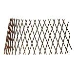 Modonghua Erweiterbarer Spalier Zaun Gitter Weidenzaun Gartenzaun Holzspalier Einziehbarer Gartenzaun Weidenholz Zugnetz für Kletterpflanzen