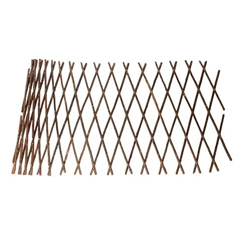 Modonghua - Reticolo estensibile per tralicci in legno di salice, recinzione da giardino in legno di salice, per piante rampicanti