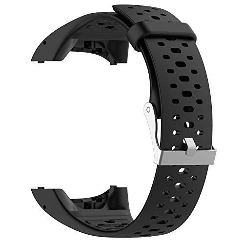 INF Ersatzarmband für Polar M400 / M430 Sportuhr, Wechselarmband kompatibel mit Polar M430 M430 GPS-Laufuhr, Sport-Uhrenarmband, Silikon Ersatzband, schwarz