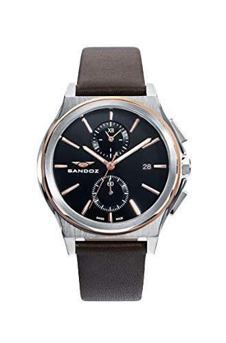 Sandoz - Crono Reloj Acero IP Rosa Correa Sr Sa - 81485-57