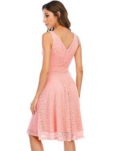 Bbonlinedress Spitzenkleid Damen cocktailkleid Damen Kleider schwarz Damen Rockabilly Kleider Damen Hochzeit Abendkleider lang cocktailkleid...