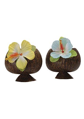 Hula luxe coupe Cocktail de noix de coco avec fleur