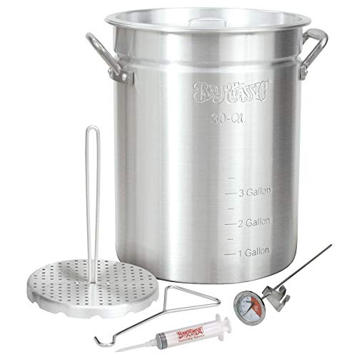 Bayou Classic 3025 30-Quart Aluminum Turkey Fryer Pot with Accessories (5-Pack)