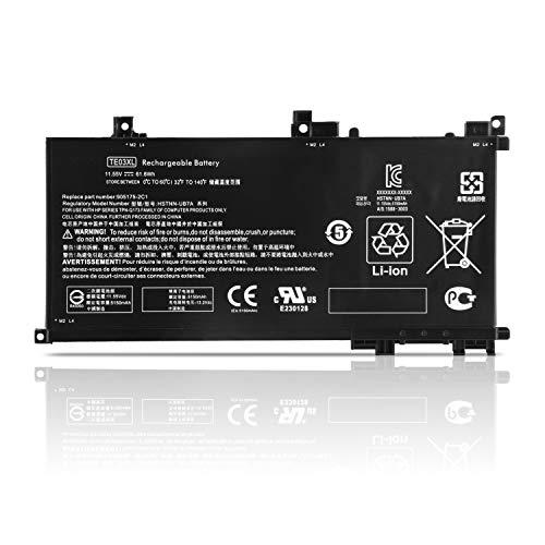 K KYUER TE03XL Laptop Akku für HP Pavilion 15 Omen 15-BC000 15-BC015TX BC400NA BC006NA BC411TX BC406TX BC407TX BC408TX 15-AX033DX AX009NA AX001TX AX001NS AX008NS AX038NF AX000NL AX009NG TPN-Q173