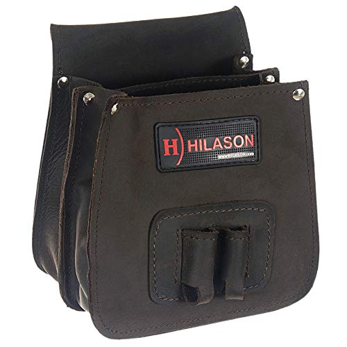 HILASON Genuine Thick Leather Shooting Shotgun Shell Bag Ammo Bag Pouch