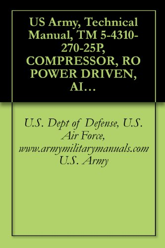 US Army, Technical Manual, TM 5-4310-270-25P, COMPRESSOR, RO POWER DRIVEN, AIR, TWO IMPELLERS, WHEELBARROW FRAME MTD, TWO PN TIRES, GASOLINE ENGINE, 60 ... manauals, special forces (English Edition)