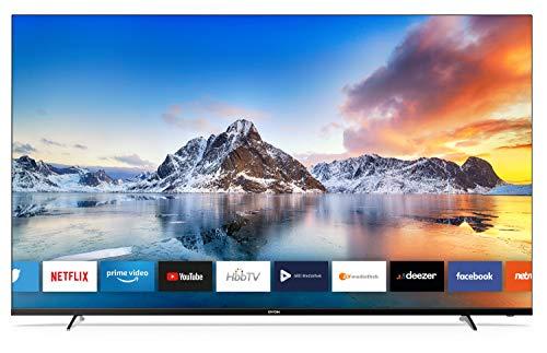 DYON Smart 65 XT 164 cm (65 Zoll) Fernseher (4K Ultra-HD Smart TV, HD Triple Tuner (DVB-C/-S2/-T2), Prime Video, Netflix und HbbTV) [Modelljahr 2020]