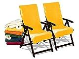 Dyckhoff Doppelpack Schonbezüge für Gartenstuhl & Gartenliege 277.297, Gartenstuhl (60 x 130 cm), gelb