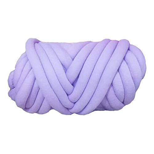 LCBYOG 250g Chunky Knit Manta de Hilo Tubo de Trenza de algodón Super Chunky Bulky Brazo Tejido Hilado Alternativo Gigante De TejeduríA Manual (Color : Violet)