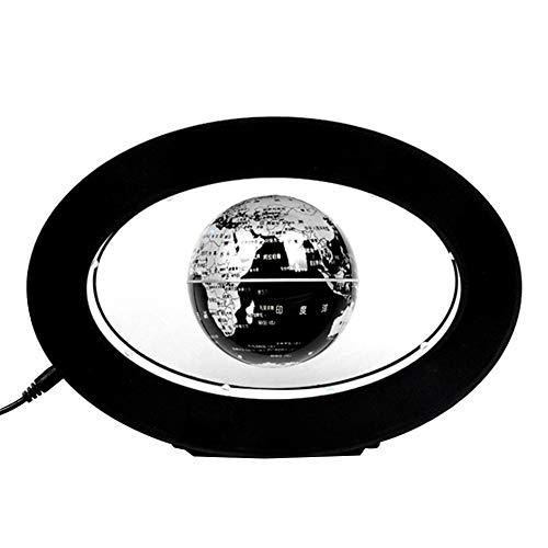Domilay Globo de LevitacióN MagnéTica Luz LED Luz Flotante Luz Creativa Anti-Gravedad Bola de Plasma Tierra de Plata Enchufe de la UE