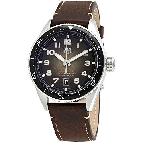 TAG Heuer AUTAVIA - Reloj de 42 mm Calibre 5 COSC cerámica negra automático acero WBE5114.FC8266
