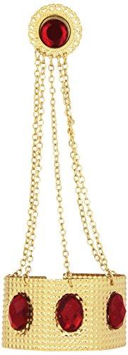 Widmannmannmannmannmannmannmann's armband met ketting en edelstenen, voor volwassenen, goud/rood, unicum, 2445B