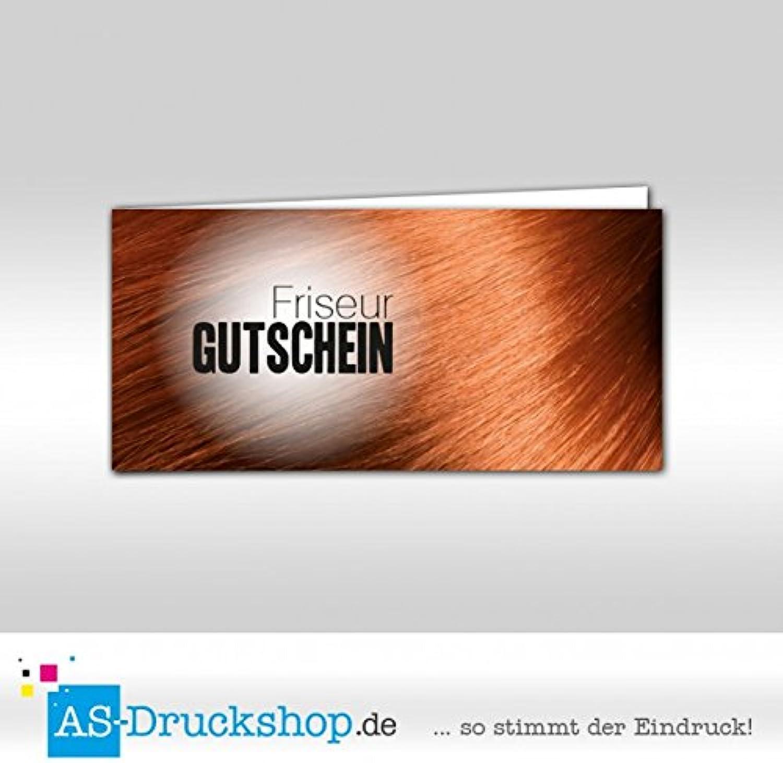 Gutschein Friseur - Kastanienbraun     100 Stück   DIN Lang B0794Y5ZBK   | Exquisite (in) Verarbeitung  66ed80