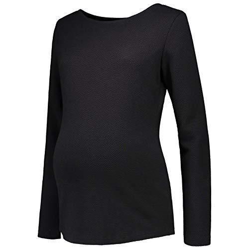 Prénatal Camiseta de premamá de manga larga para mujer, color negro Negro S