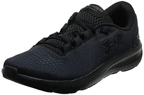 Under Armour Zapatillas de correr UA Charged Pursuit 2 para mujer, Negro (Negro / Negro / Negro), 40.5 EU