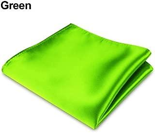 LinSHdi426 16 Colors Men's Satin Solid Plain Color Handkerchief Hanky Pocket Square for Wedding Party Pocket Squares for Men Mens Pocket Squares Set Assorted Colors Green
