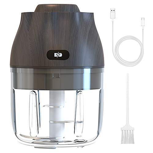 REDSTORM Mini Hachoir Electrique à Ail, 40W Puissant Hachoir à Légumes Portable sans Fil Hachoir à Légumes Rechargeable USB pour Oignon, Viande, Chili et Gingembre, 250ml 8,5oz