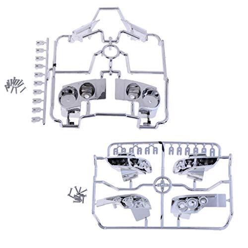 Fenteer Lampe de Coque S15 + R35 Pièces de Mise à Niveau pour 1:10 RC Modèle Véhicule Nissan GTR R35