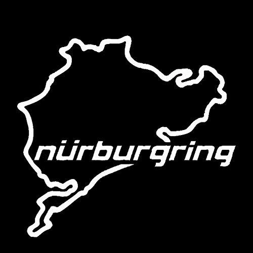 UTUT - calcomanía Decorativo para Coche, diseño de Mapa de Nurburgring, Blanco, Mediano