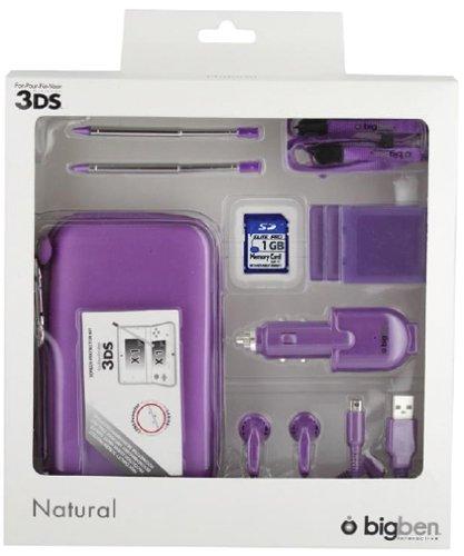 """Nintendo 3DS - Zubehör-Set \""""Natural\"""" (farbig sortiert)"""