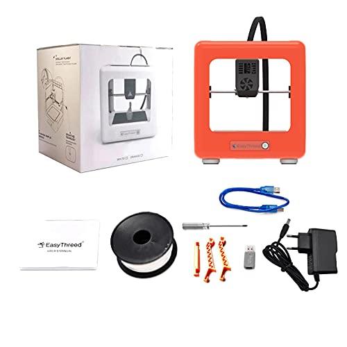 Mini impresora 3D completamente ensamblada Impresora 3D de calidad para el consumidor Tamaño de impresión 90x100x110mm Consumibles PLA Impresora 3D(Enchufe de la UE)