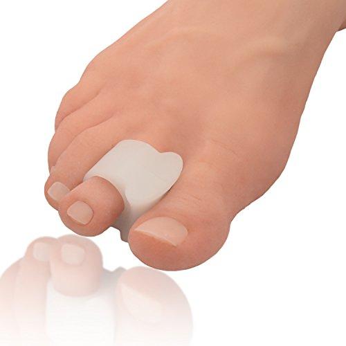 Paire de coussinets séparateurs d'orteils pour oignons hallux valgus - 1 paire de séparateurs en gel doux -...