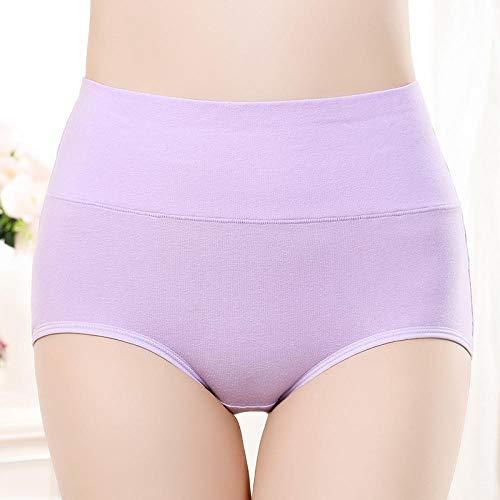 Fuduoduo Tanga Invisible Sin Costuras,Bragas de algodón de Cintura Alta para Mujer-Morado 5pcs_M #,Mujer Cómodo Braguitas Culotte Elástico