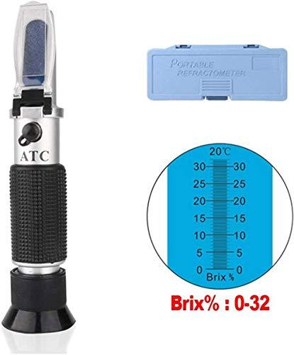 DT Refraktometer Brix Zucker 0-32% Brix Wein Refraktometer für Heimbrauen & Weinbereitung Wein Zucker Inhalt Testen