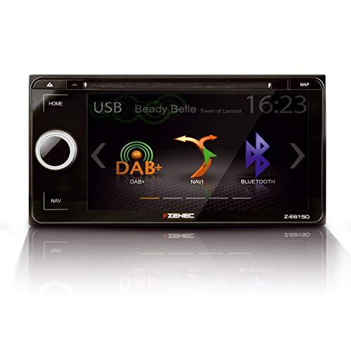 """ZENEC Z-E6150: Infotainer, 2-Din Mediencenter für Toyota, Multimedia mit 6,8""""/17,3 cm Touchscreen, Autoradio mit DAB+, CD/DVD, Bluetooth, zum Festeinbau Navi erweiterbar"""