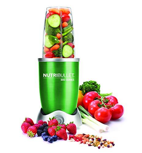 Nutribullet NB5-0628-G - Extractor de nutrientes con recetario en español, base motor de alta capacidad, 500 W, 20.000 rpm, incluye varios accesorios, color verde