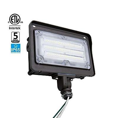 JMKMGL LED Flood Light, 5000K Daylight White, 100-277VAC,IP65 Waterproof and Outdoor LED Light, ETL-Listed, DLC-Qualified …