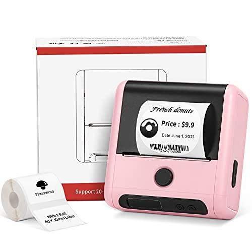 Phomemo M200 Stampante per etichette termica 3 pollici 80 mm stampante per etichette Bluetooth portatile...