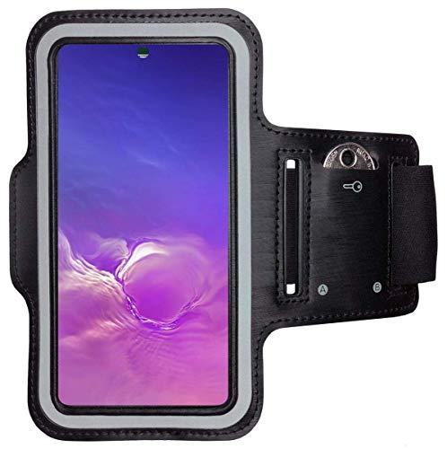 CoverKingz Brazalete deportivo para Samsung Galaxy S21+ (Plus) 5G – Brazalete con compartimento para llaves Galaxy S21+ (Plus) 5G – Brazalete deportivo para correr teléfono móvil, color negro