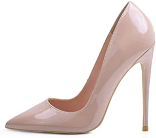 High Heels, Womens Pointed Toe Slip on Stilettos Party Wedding Pumps Basic Shoes